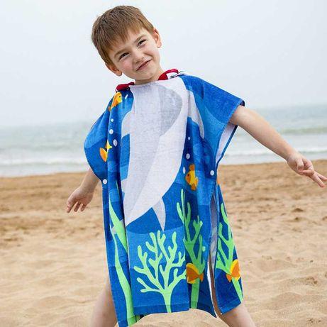 Полотенце пончо, детское. 60*70см. Хлопок 100% Для девочки и мальчика.
