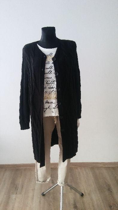 czarny i pomarańczowy sweter Miedźno - image 1