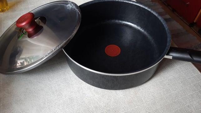 Глубокая Сковорода Тефал 26см Селано во Франции с крышкой нерж
