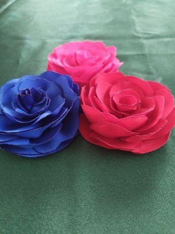 Цветы из ткани для декора.