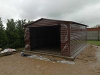 Garaże drewnopodobne, garaż 4x6 dach dwuspadowy, wzmocniony profilem,