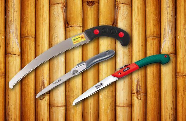 Ножовка садовая, складная, с кобурой, каленый зуб, 3D заточка SAMURAI