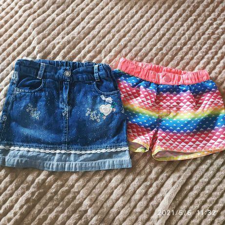 Джинсовая юбка и шорты на 6 лет,рост 110-116 см