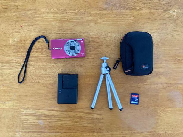 Máquina Fotográfica CANON + carregador + tripé + capa + SDHC card