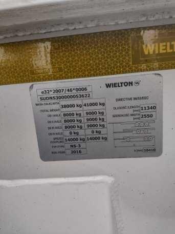 Naczepa WIELTON NS-3  2016 do wszystkich kontenerów