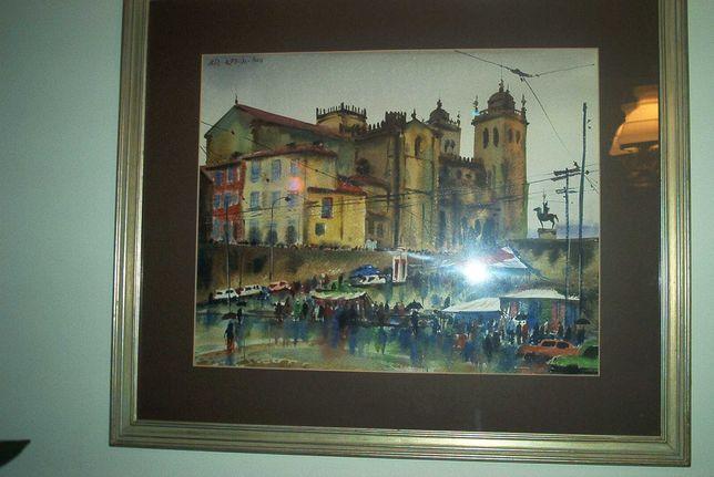 Pinturas  a óleo e aguarelas