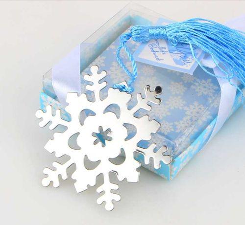 Zakładka do książek Płatek śniegu Błękitny Frędzel Pudełko