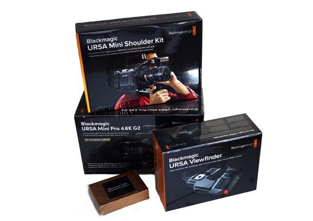 Black Magic URSA Mini Pro 4.6K G2 + Viewfinder, Shoulder Mount Kit&Bat
