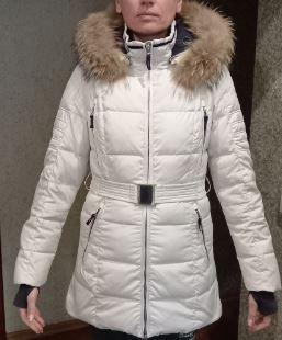 Зимний белый натуральный пуховик Кропивницкий - изображение 1