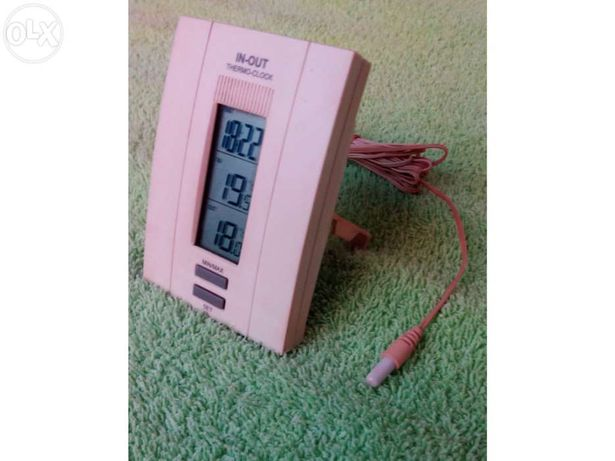 Termómetro digital - min e max - interior e exterior