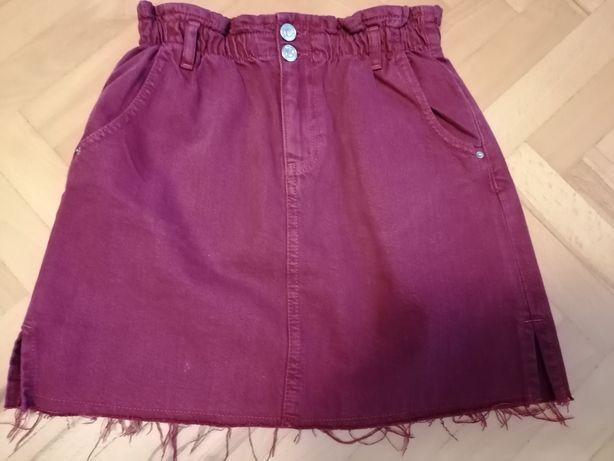 Spódnica bordowa marki Zara r. 158