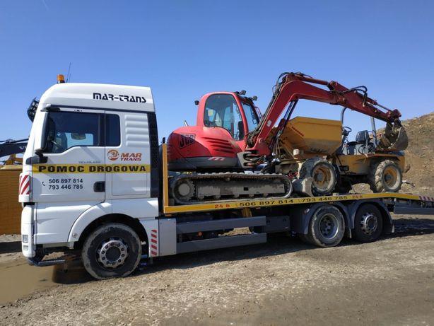transport maszyn budowlanych wózków maszyn rolniczych auto laweta 15 t