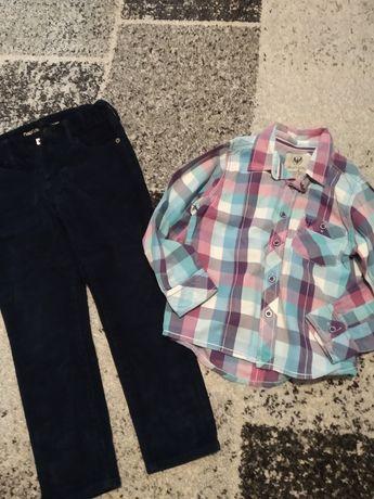 Zestaw koszula i spodnie r.110-116