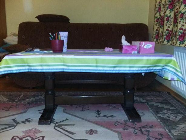 piekny stół rozkładany z DREWNA DĘBOWEGO z regulacją wysokości
