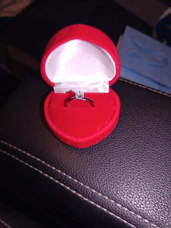 Pierścionek aclari P4234BB, praktycznie nowy, białe złoto 0,4ct