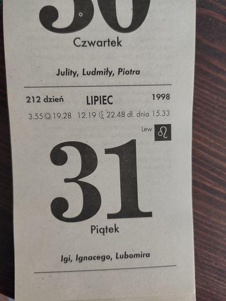 Kartki z kalendarza 1998 rok