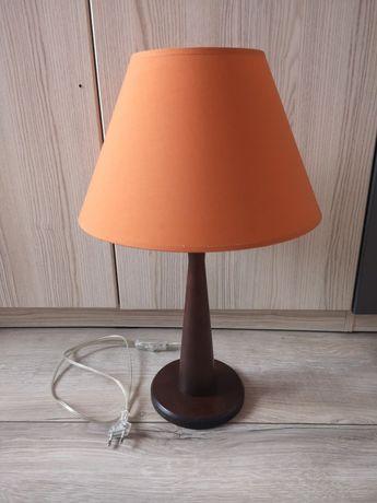 Lampa stojąca drewniana z abażurem Kandela