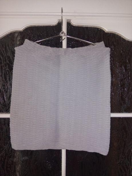 Bandażowa siwa spodniczka