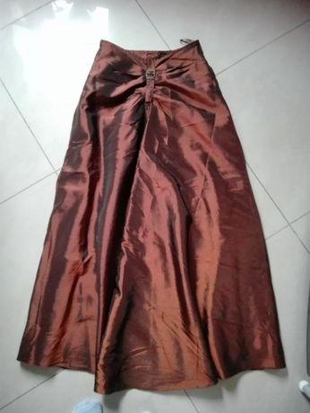 kreszkowana sukienka (spòdnica,girset,szal) rozm. 34 jak nowa