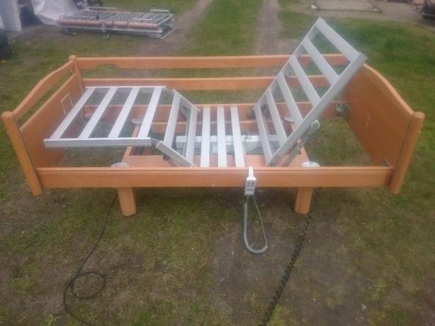 Łóżko rehabilitacyjne - Elbląg - na pilota - domowe z materacem i tran