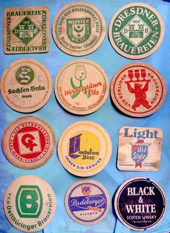 Zestaw lata 70te - stare zagraniczne podkładki do piwa - PROMOCJA