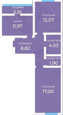 Дом сдан, 2-х комнатная квартира
