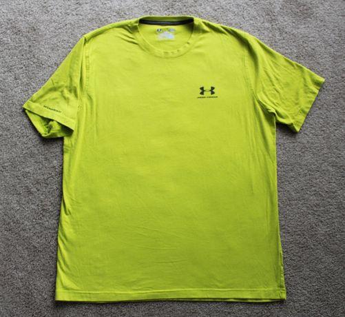 ORYGINALNA koszulka męska Under Armour rozm L | Limonkowa