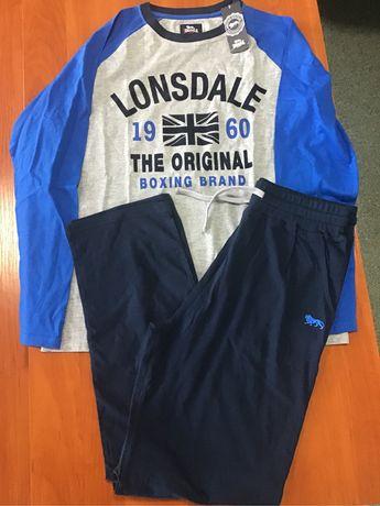 Piżama Długi Rękaw Lonsdale Boxing Brand L Nowa