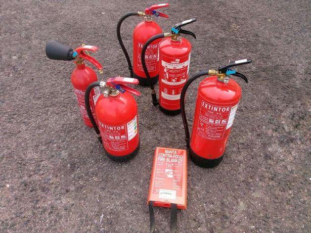 5 extintores revistos Maio 2017