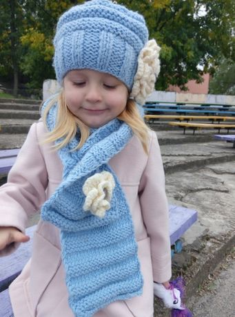 Шапка и шарф для принцессы
