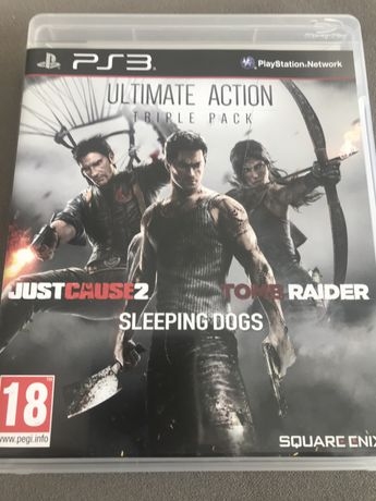 3 Jogos para playstation3 Just Cause2,Sleeping Dogs, Tomb Raider.