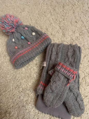 Продам дитячий набір шапка, шарф, рукавички George 4-8 рочків