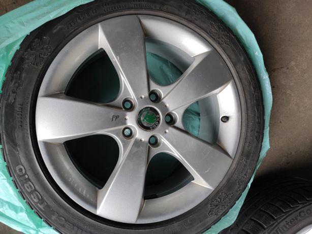 Felgi aluminiowe z opona zimowa skoda 17