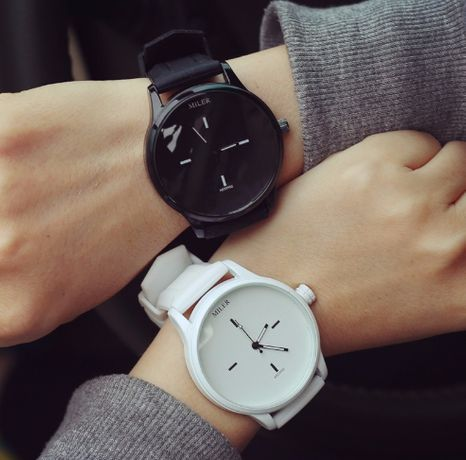 Топ!!! Женские и Мужские часы MILER силиконовый ремешок (2 цвета)