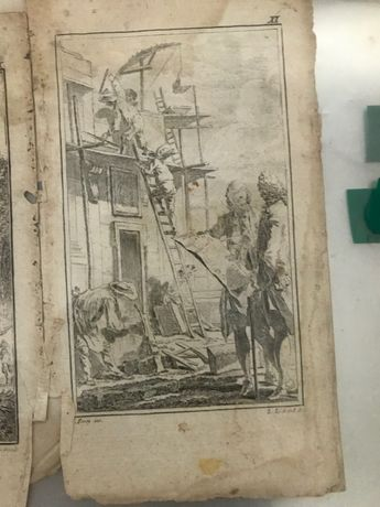 Gravuras livros históricos ingleses (muito antigo) - 2