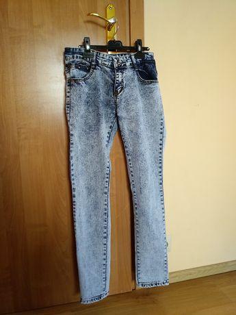 Spodnie Jeansy błękitne marmurkowe