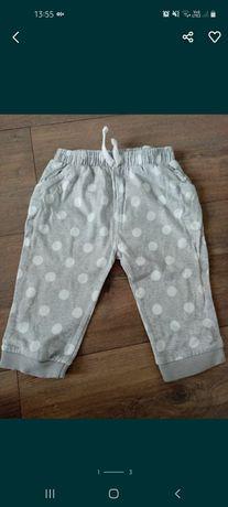 Spodnie bawełniane 74 f&f