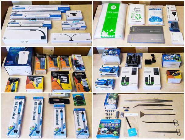Aquários - Filtros, Termostatos, Luz LED, Bombas Ar/Água, Aquascapping