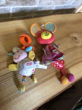 Игрушки на коляску кроватку овечка лили и мышь