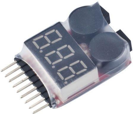 Alarme de baterias Litio, Lipo tester 1-8S