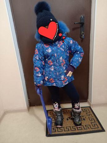 Куртка и комбинезон зима 4-5 лет