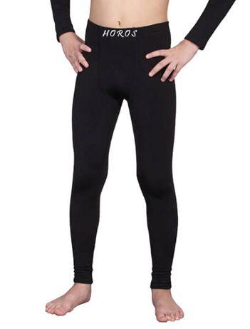 Детские термо кальсоны подштанники штаны чёрные для мальчика подростка
