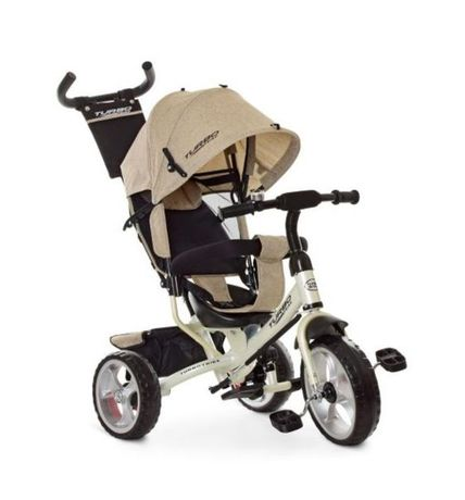 Трёхколёсный велосипед детский, Бежевый, регулировка сиденья, ровер