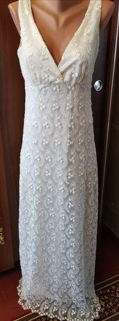 Платье белое Рр М-42-44