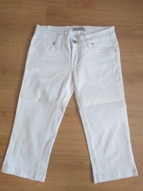 Rybaczki białe jeansowe