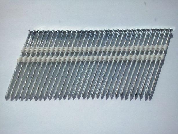Gwoździe łączone plastikiem 3,1/90 pirścieniowe ocynkawane