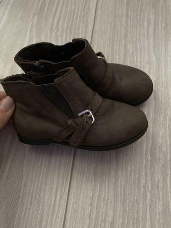 Ботильоны Zara кожаные 21 р