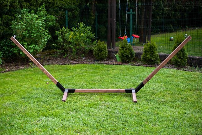 Stelaż drewniany do hamaka ogrodowego hamak bujak HM