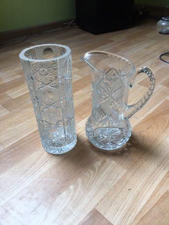 Kryształowy wazon oraz dzban