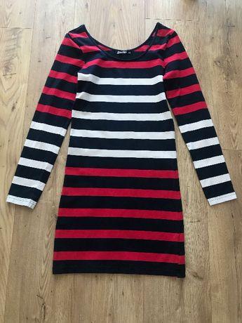 Sukienka w paski XS/S na lato granatowy czerwony